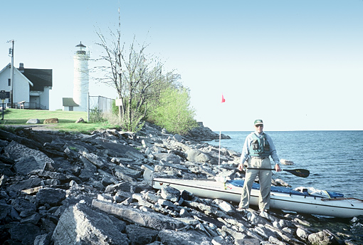 Put-in at Tibbett's Light on the edge of Lake Ontario