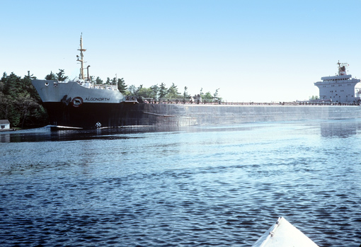 Big freighter in the American Narrows, 1000 Islands